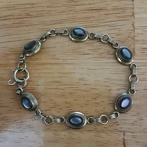 Jewelry - Vintage! Gold and Gray/Purple Gemstone Bracelet